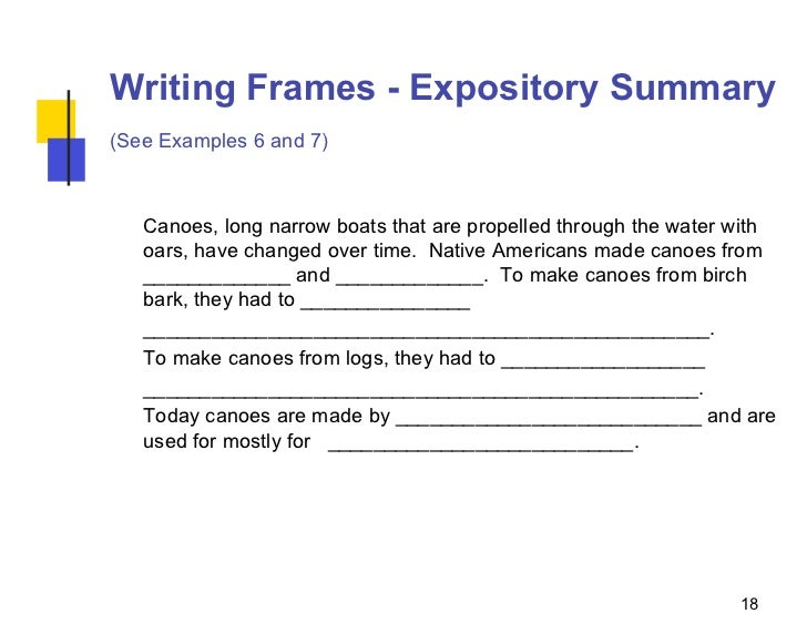 expository essay frame A strong thesis for an expository essay will not present an opinion, make outlandish claims, or state an argument remember, your thesis statement should be based purely.