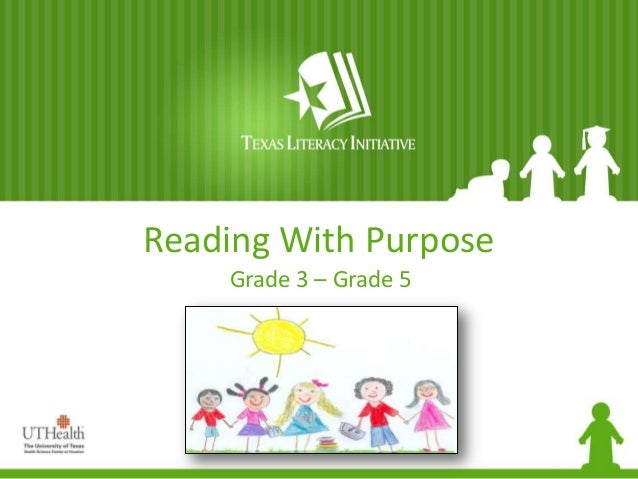 Reading With Purpose Grade 3 – Grade 5