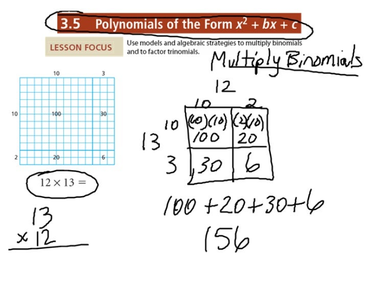 3.5 Multiply Binomials notes