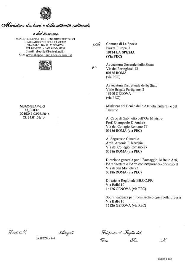3 6-014 atto soprintendenza dopo decreto consiglio di stato