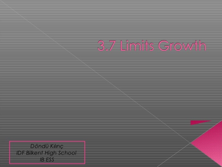 3.7 Limits to growth