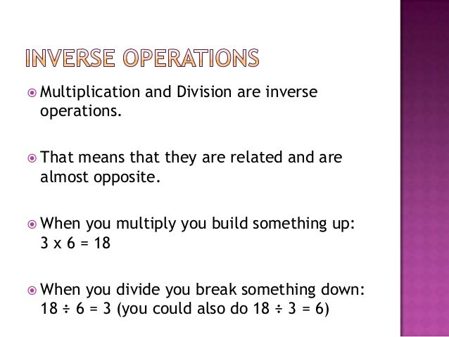 Division as inverse of multiplication worksheets grade 2