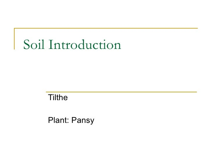 3 8 Soil Introduction