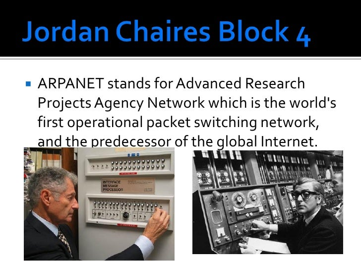 ARPANET stands for Advanced Research      Projects Agency Network which is the world's     first operational packet switc...