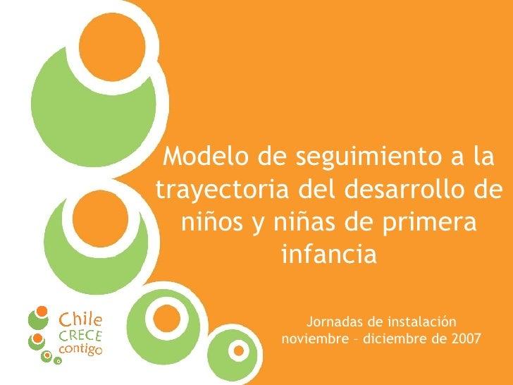 Modelo de seguimiento a la trayectoria del desarrollo de niños y niñas de primera infancia Jornadas de instalación noviemb...