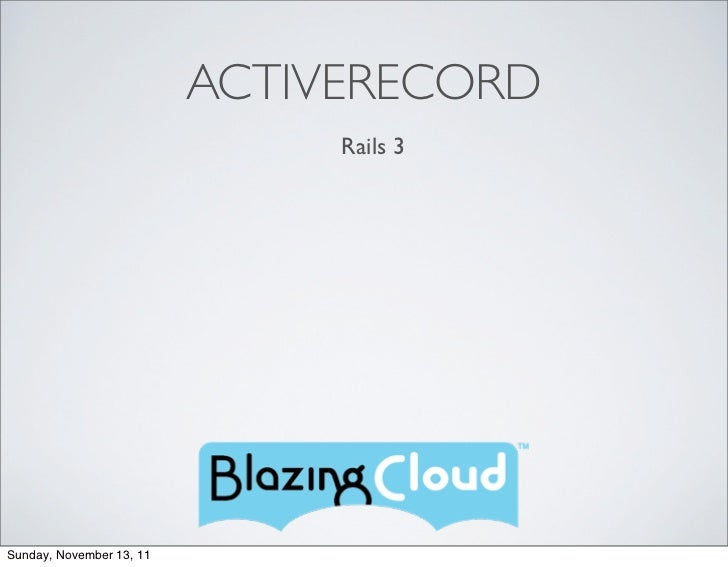 Active Record Introduction - 3