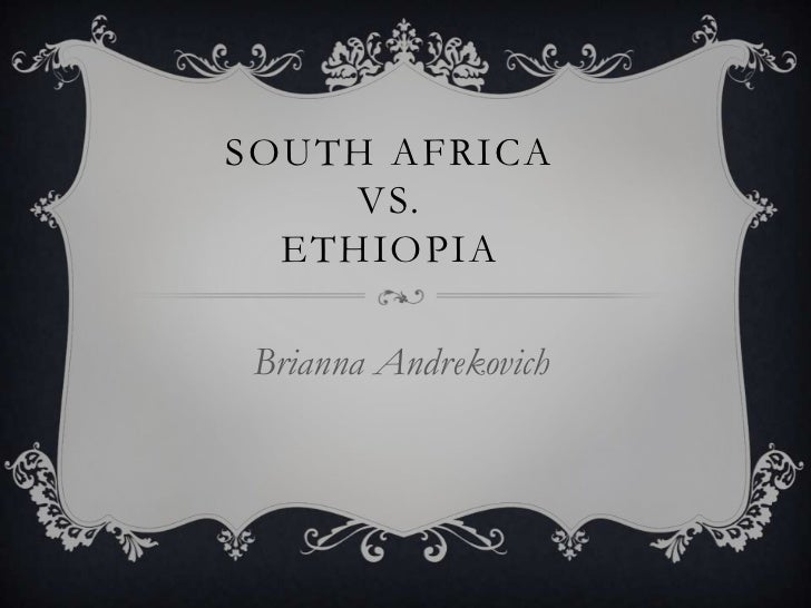 SOUTH AFRICA     VS.  ETHIOPIABrianna Andrekovich