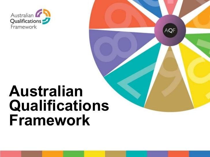 AQF cover Australian Qualifications Framework