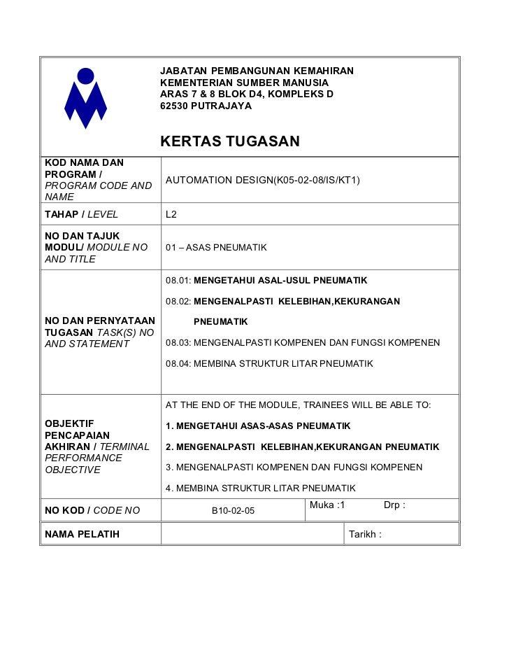 JABATAN PEMBANGUNAN KEMAHIRAN                     KEMENTERIAN SUMBER MANUSIA                     ARAS 7 & 8 BLOK D4, KOMPL...