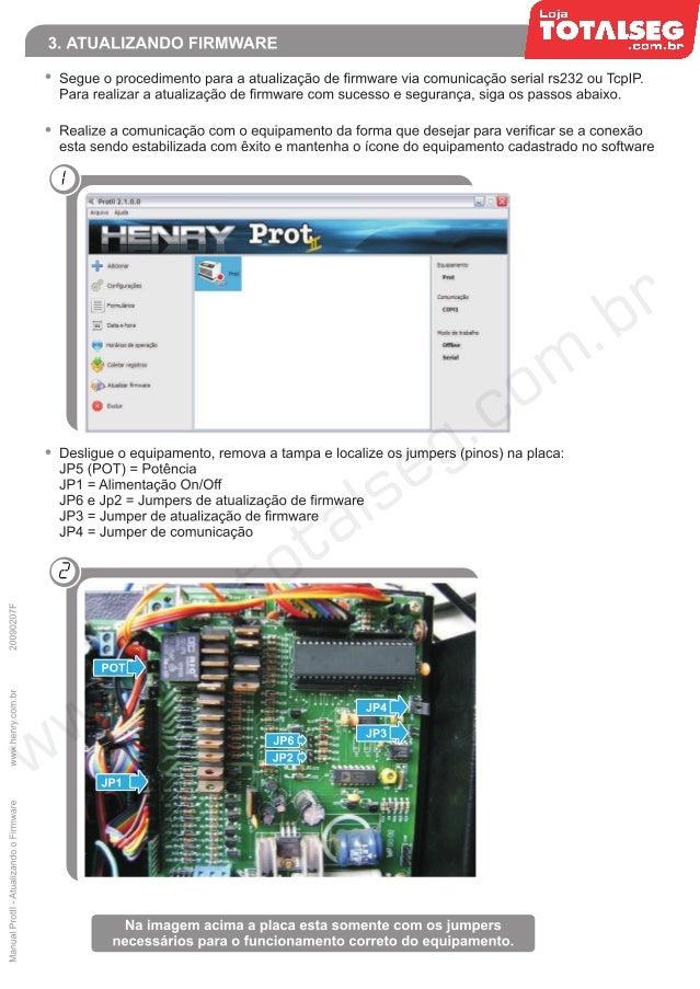 Atualizando o Firmware do Prot II Henry - LojaTotalseg.com.br