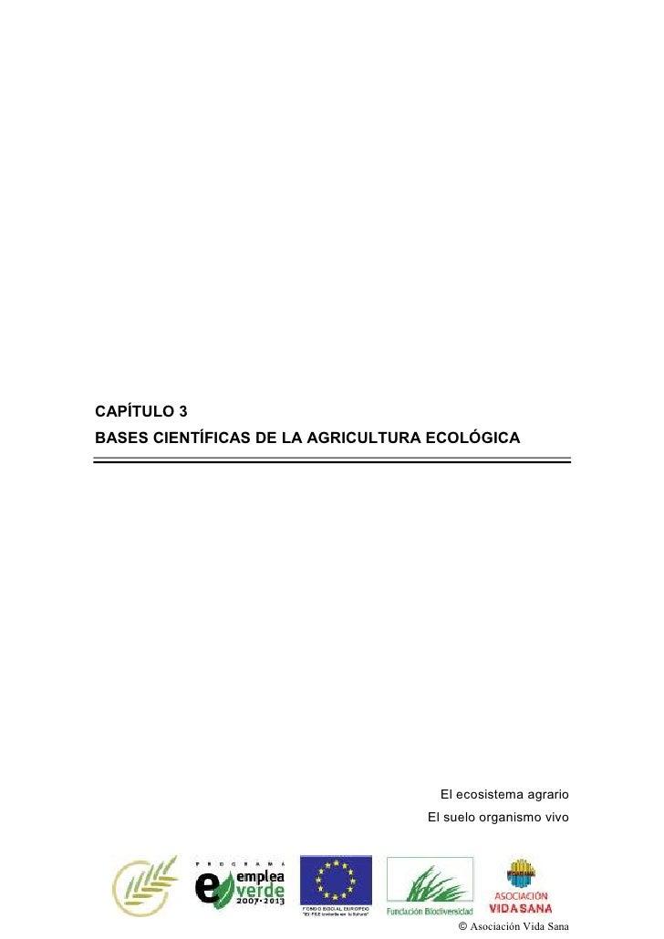 CAPÍTULO 3BASES CIENTÍFICAS DE LA AGRICULTURA ECOLÓGICA                                     El ecosistema agrario         ...