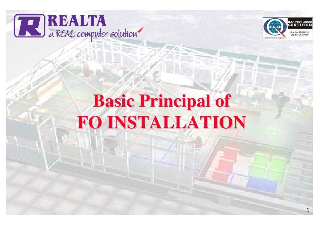3 Basic Principal Of Fo Installation