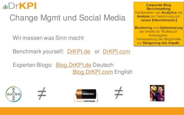 Wir messen was Sinn macht Benchmark yourself: DrKPI.de or DrKPI.com Experten Blogs: Blog.DrKPI.de Deutsch Blog.DrKPI.com E...