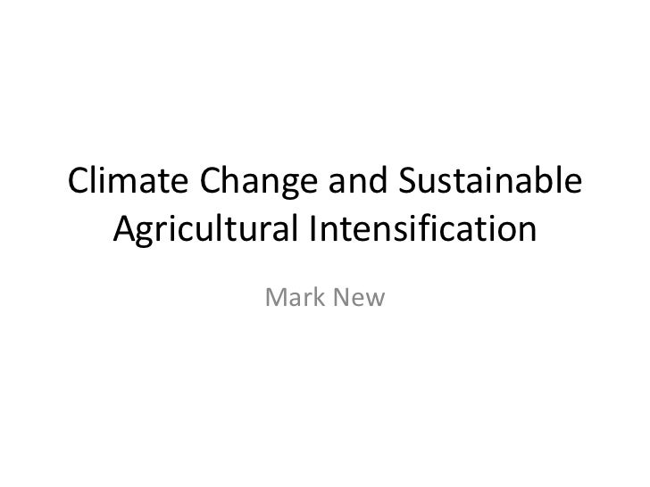 Climate Change and Sustainable Agricultural Intensification<br />Mark New<br />