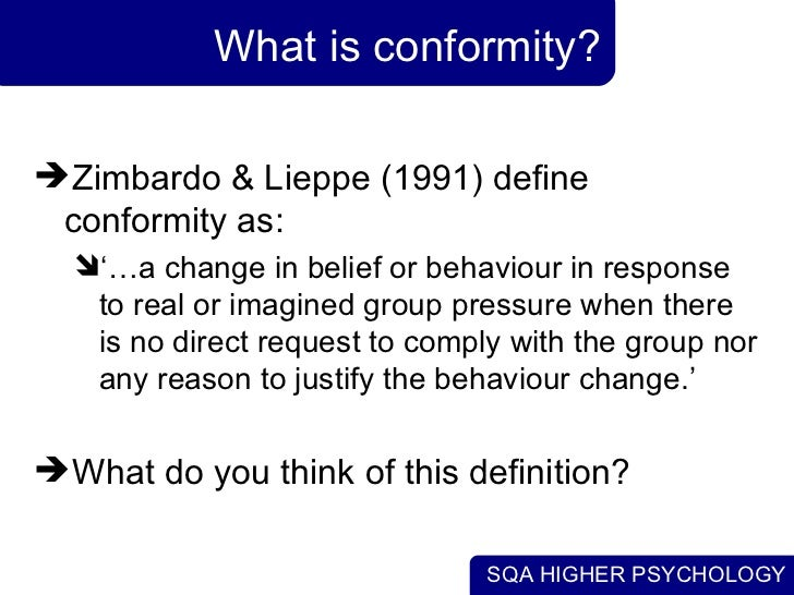 Theories about conforming