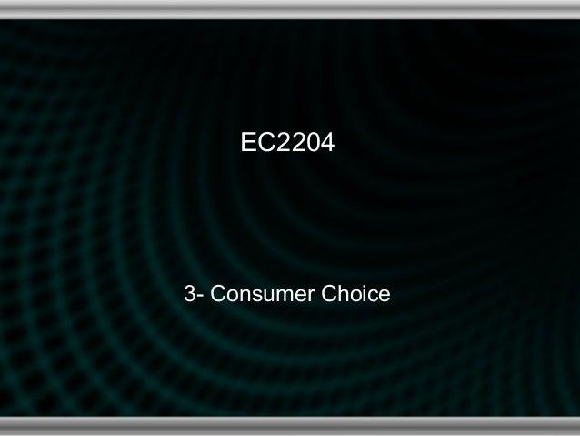 EC22043- Consumer Choice