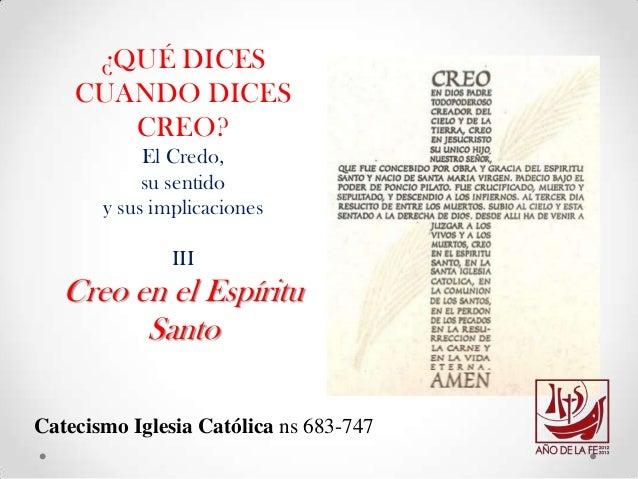 3. Creo en el Espíritu Santo - Escuela Virtual RCCColombia-feb27-13