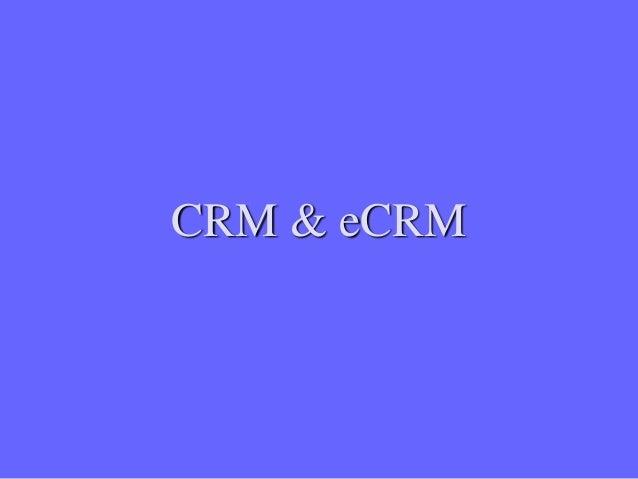 CRM & eCRM