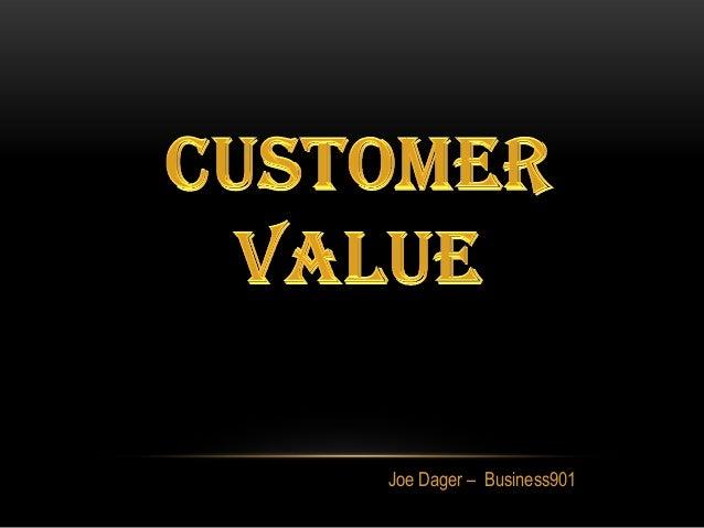 Customer Value for Lean Marketing