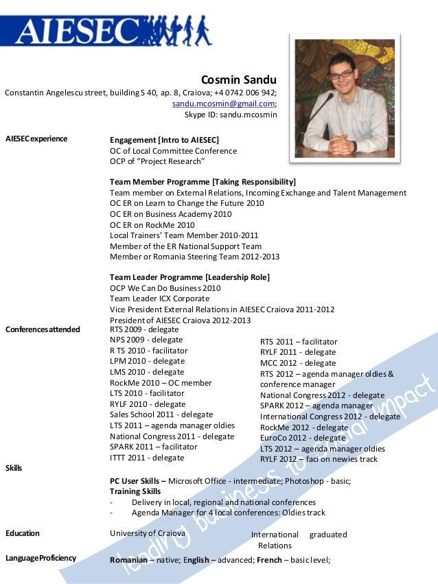 3. Curriculum Vitae Cosmin Sandu