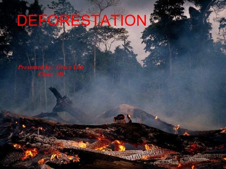 DEFORESTATION <ul><ul><li>Presented by:  Grace Lim </li></ul></ul><ul><ul><li>Class: 3D </li></ul></ul>