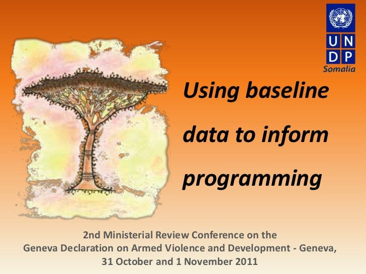 Using baseline                               data to inform                               programming           2nd Minist...