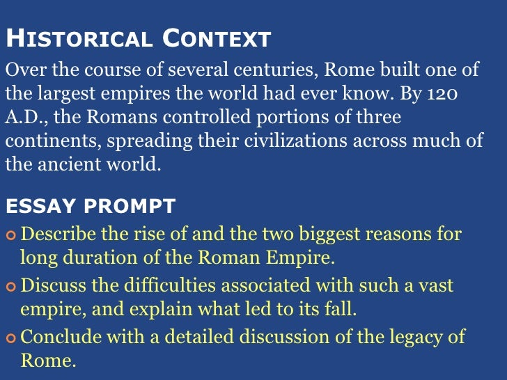 explain the major reasons for the fall of the roman empire