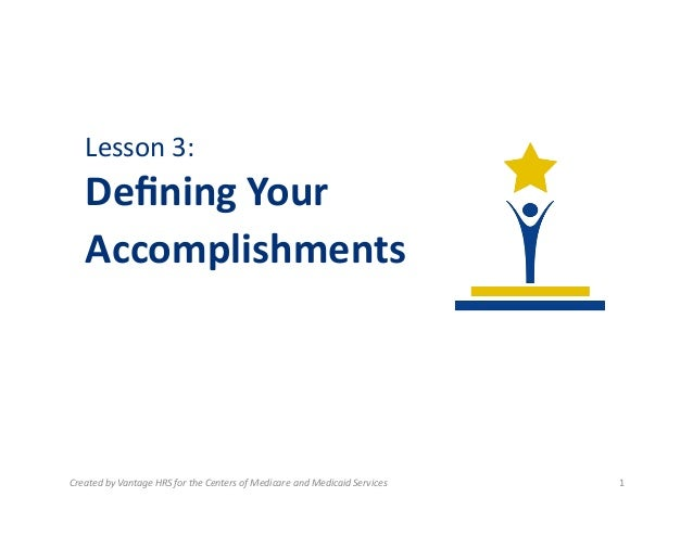 2.3 Defining Accomplishments