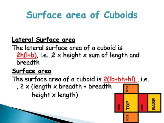 3 D Figures Its Surface Areas And Volumes