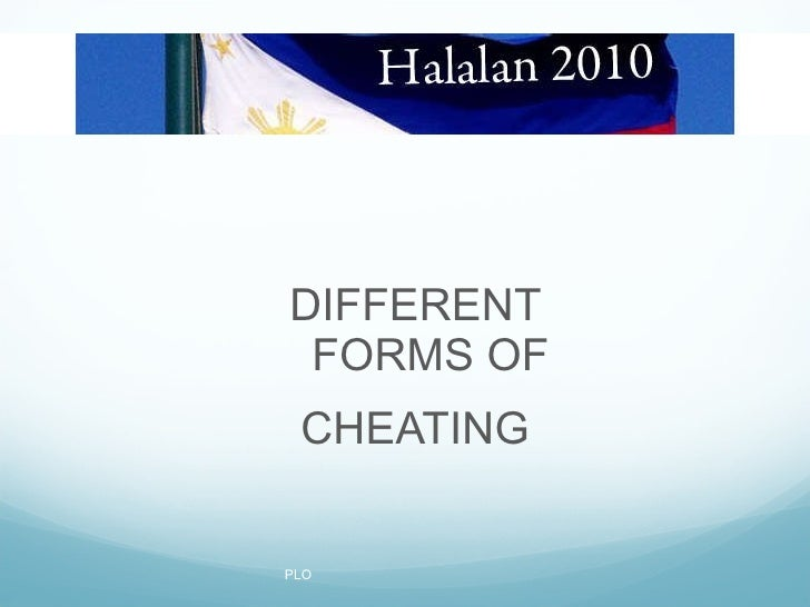 Different forms of Cheating