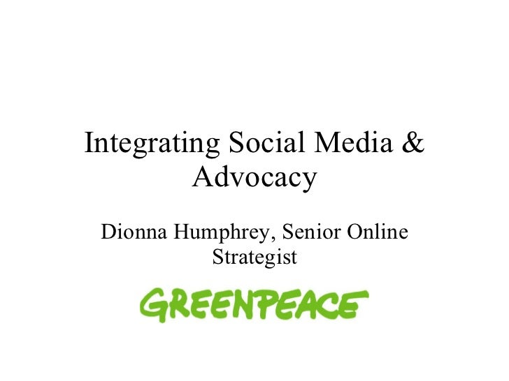 Advocacy and Activism Using Social Media