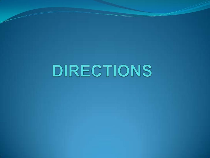 3.Directions