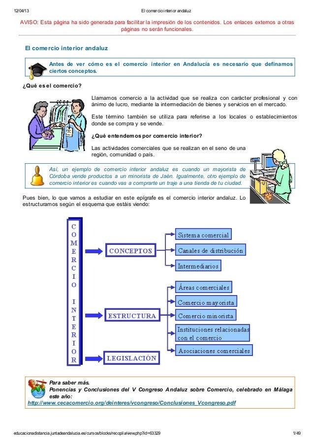 12/04/13 El comercio interior andaluzeducacionadistancia.juntadeandalucia.es/cursos/blocks/recopila/view.php?id=63329 1/49...