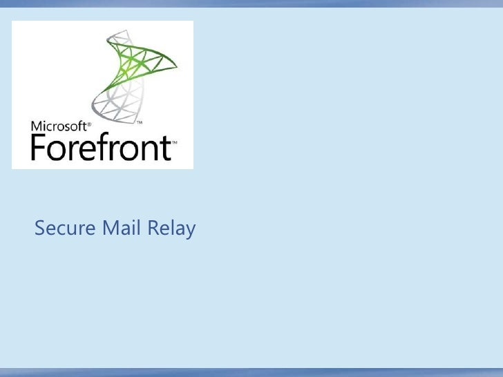 Secure Mail Relay