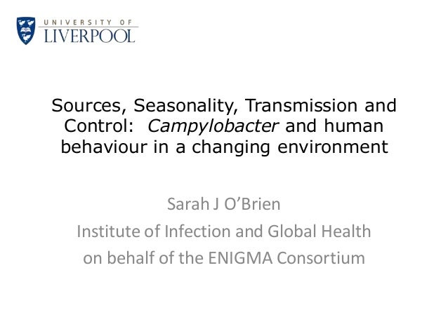 Sources, Seasonality, Transmission and Control: Campylobacter and human behaviour in a changing environment               ...