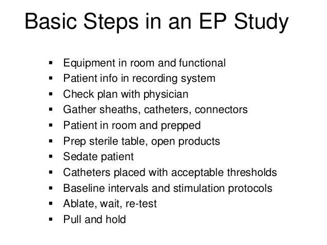 Comprehensive electrophysiologic evaluation - AAPC
