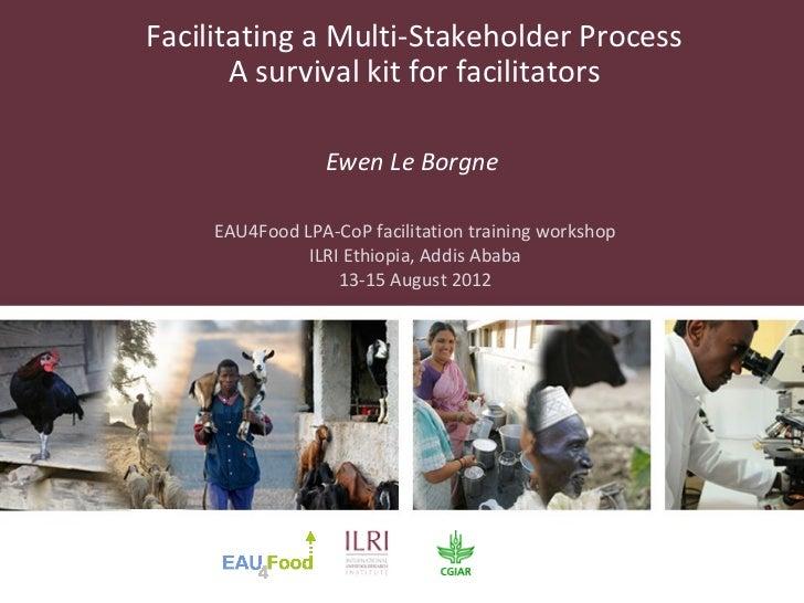 Facilitating a Multi-Stakeholder Process       A survival kit for facilitators                 Ewen Le Borgne     EAU4Food...