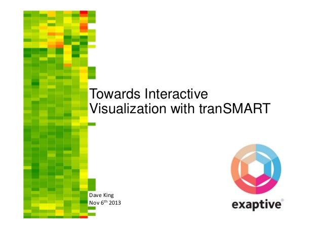 Towards Interactive Visualization with tranSMART  Dave King Nov 6th 2013