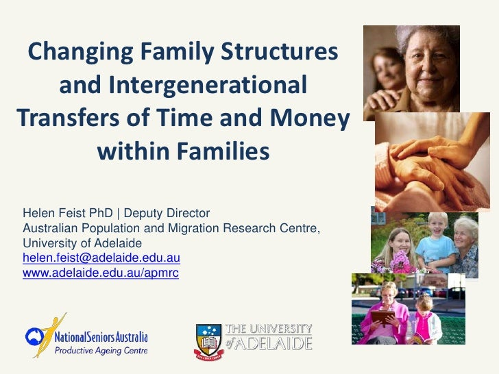 Changing Family Structures   and IntergenerationalTransfers of Time and Money       within FamiliesHelen Feist PhD   Deput...