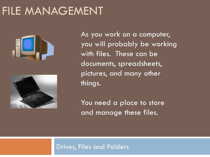 Files - saving and opening