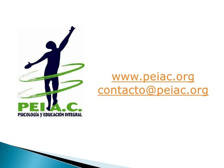 www.peiac.org<br />contacto@peiac.org<br />