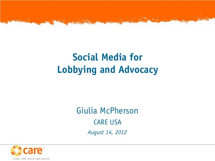 Social Media for                                         Lobbying and Advocacy                                            ...