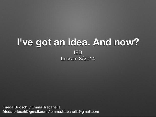 Ideas management (vers. 2014)