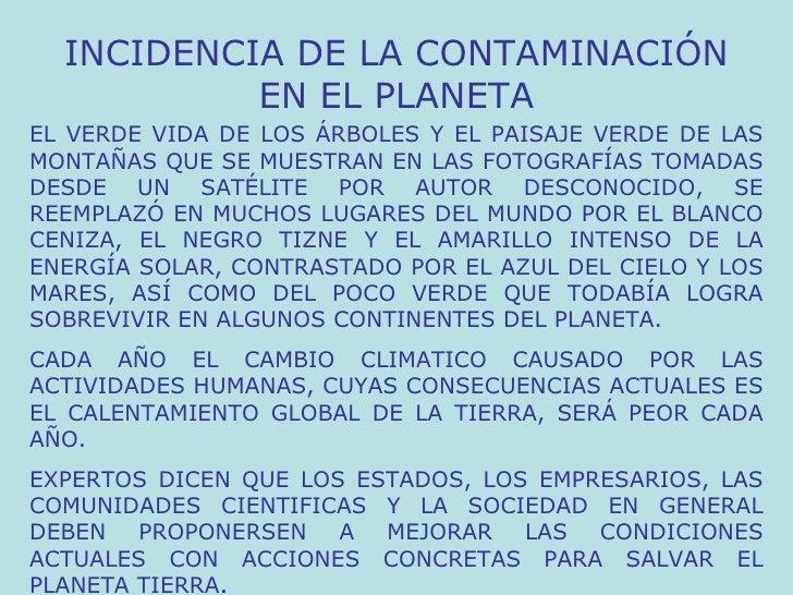 INCIDENCIA DE LA CONTAMINACIÓN EN EL PLANETA EL VERDE VIDA DE LOS ÁRBOLES Y EL PAISAJE VERDE DE LAS MONTAÑAS QUE SE MUESTR...