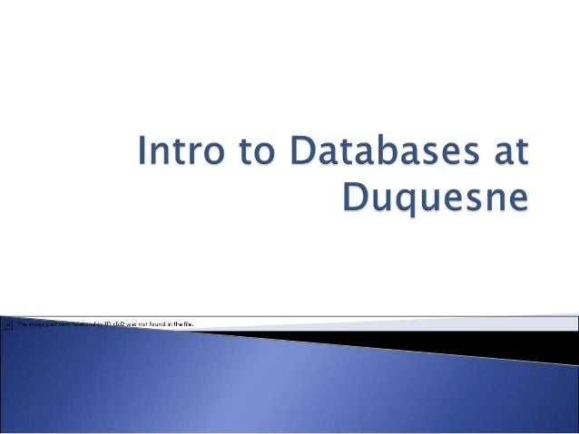 Lesson 3: Intro to Databases