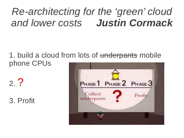 Re-architecting for the 'green' cloud and lower costs. Justin Cormack