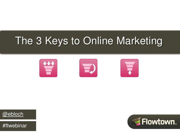 The 3 Keys to Online Marketing     @ebloch  #ftwebinar