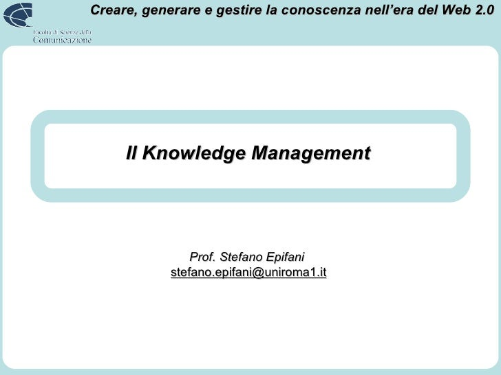 3. Knowledge Management