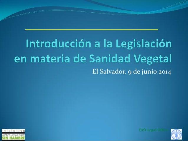 FAO - Introducción a la legislacion en materia de sanidad vegetal