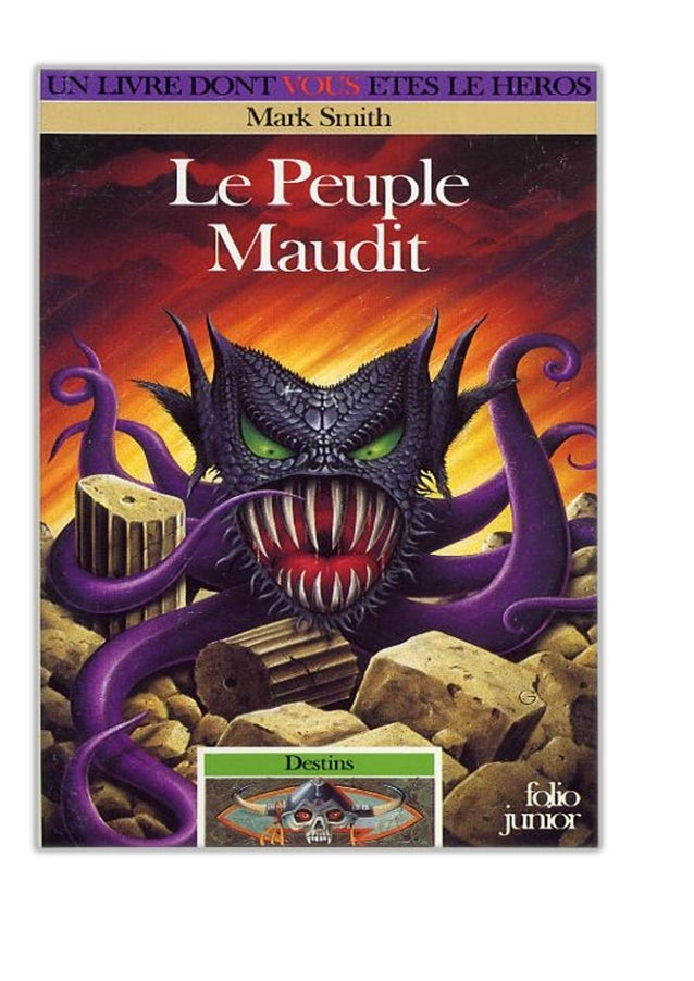 Mark Smith Le Peuple Maudit Destins/3 traduit de l'anglais par Yannick Surcouf illustrations de terry oakes gallimard